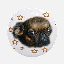 Smooth Brussels Griffon Ornament (Round)