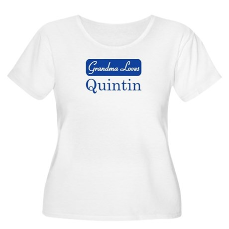 Grandma Loves Quintin Women's Plus Size Scoop Neck