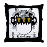 Lawless Coat of Arms Throw Pillow