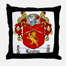 Leahy Coat of Arms Throw Pillow