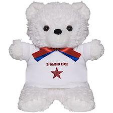 Straight Edge - Red with Star Teddy Bear