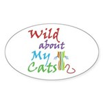 Wild about My Cats Oval Sticker (10 pk)