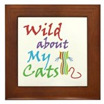 Wild about My Cats Framed Tile