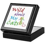 Wild about My Cats Keepsake Box