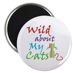 Wild about My Cats Magnet