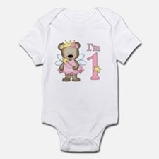 Bear Princess First Birthday Infant Bodysuit