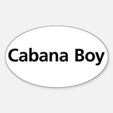Cabana Boy Oval Decal