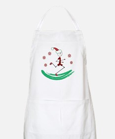 Holiday Runner Guy Apron