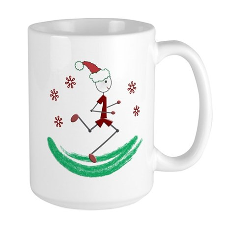 Holiday Runner Guy Large Mug