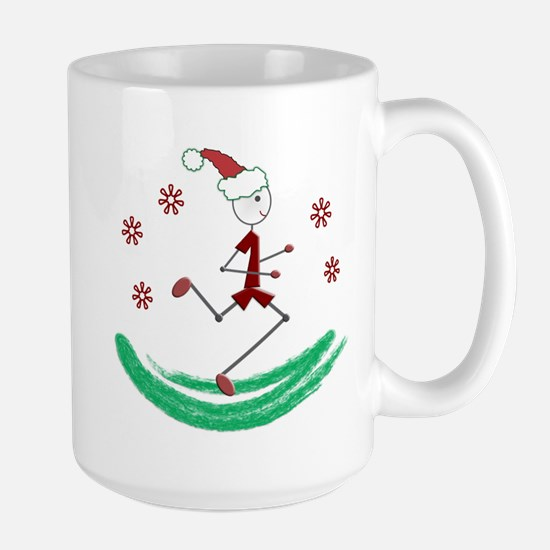 Holiday Runner Guy Large Mug