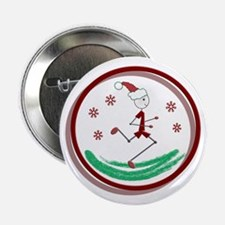 "Holiday Runner Guy 2.25"" Button"