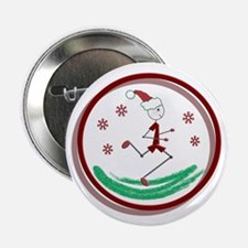 """Holiday Runner Guy 2.25"""" Button (10 pack)"""