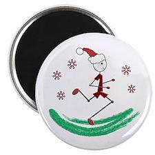 """Holiday Runner Guy 2.25"""" Magnet (10 pack)"""