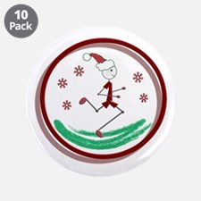 """Holiday Runner Guy 3.5"""" Button (10 pack)"""
