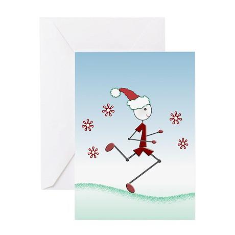 Holiday Runner Guy Greeting Card