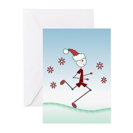 Holiday Runner Guy Greeting Cards (Pk of 10)