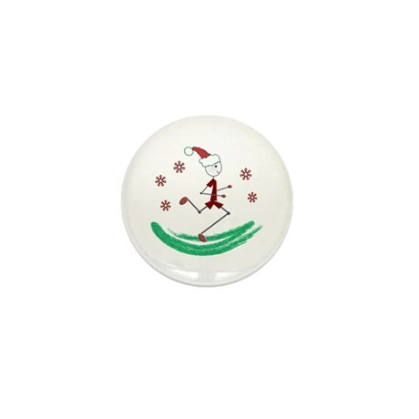 Holiday Runner Guy Mini Button (10 pack)