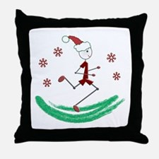 Holiday Runner Guy Throw Pillow