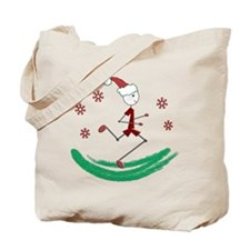 Holiday Runner Guy Tote Bag