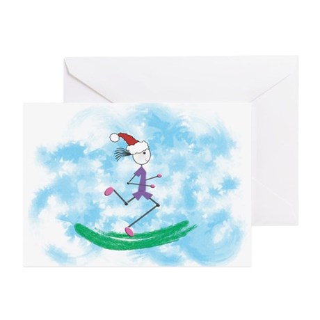 Christmas Holiday Lady Runner Greeting Cards (10)