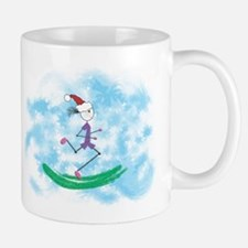 Christmas Holiday Lady Runner Mug