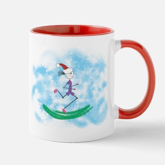 Christmas Holiday Lady Runner Mug