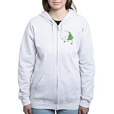 Christmas Tree Runner Zip Hoodie