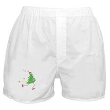 Christmas Tree Runner Boxer Shorts