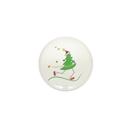 Christmas Tree Runner Mini Button