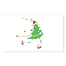 Christmas Tree Runner Rectangle Decal