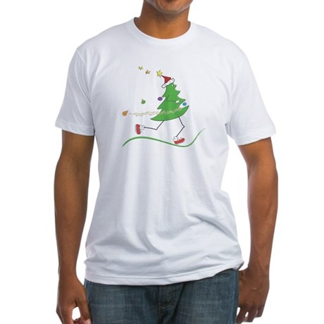 Christmas Tree Runner Fitted T-Shirt
