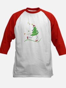 Christmas Tree Runner Kids Baseball Jersey