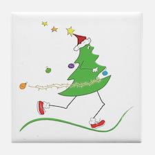Christmas Tree Runner Tile Coaster