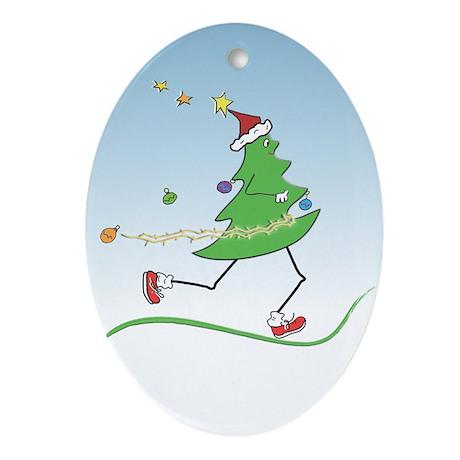 Christmas Tree Runner Oval Ornament
