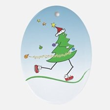 Christmas Tree Runner Oval Ornament