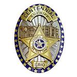 Twin Falls Sheriff Oval Ornament