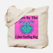 Cyber Surfing Bug Tote Bag