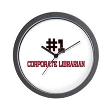 Number 1 CORPORATE LIBRARIAN Wall Clock