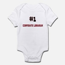 Number 1 CORPORATE LIBRARIAN Infant Bodysuit