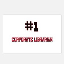 Number 1 CORPORATE LIBRARIAN Postcards (Package of