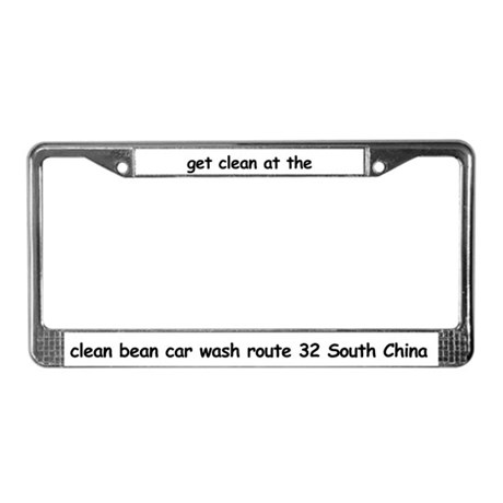 Clean Bean License Plate Frame