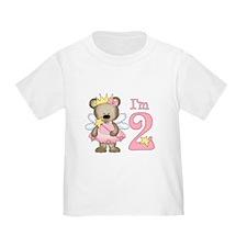 Bear Princess 2nd Birthday T