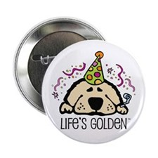 New Year's Golden Button