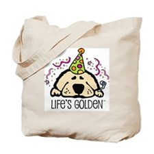 New Year's Golden Tote Bag