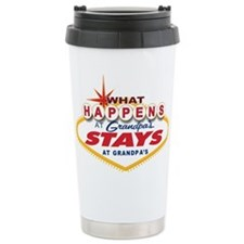 What Happens at Grandpa's Travel Mug