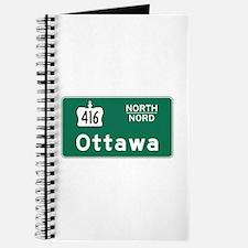Ottawa, Canada Hwy Sign Journal