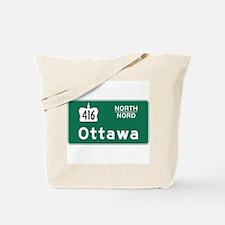 Ottawa, Canada Hwy Sign Tote Bag