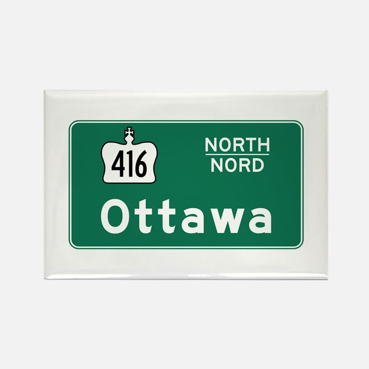Ottawa, Canada Hwy Sign Rectangle Magnet