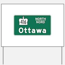 Ottawa, Canada Hwy Sign Yard Sign
