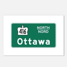 Ottawa, Canada Hwy Sign Postcards (Package of 8)